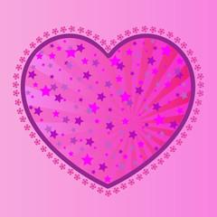 Valentine's-Stars in Pink Heart