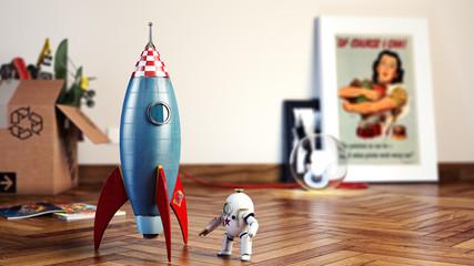 Vintage Rocket dof