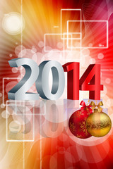 Beautiful Happy new year 2014 bright colorful celebration