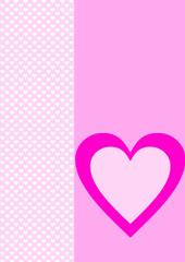 Karte Hintergrund weiße Herzen ein rosa Herz