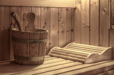 Sauna Mit Kopfteil, Schöpfeimer