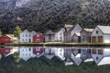 Traditional Norwegian Village