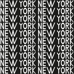New York typography seamless background pattern. Vector