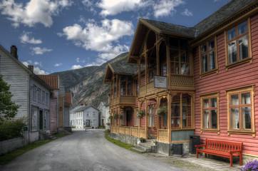 Traditional Norwegian village
