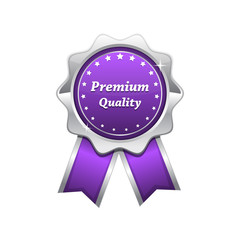 Premium Quality Violet Vector Seal Icon