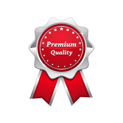 Premium Quality Red Vector Seal Icon