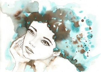 Fotobehang Schilderkunstige Inspiratie watercolor illustration