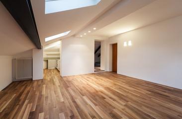Obraz Interior nice loft, wide empty room - fototapety do salonu