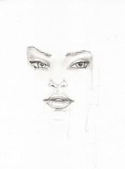 portret kobiety rysowany ołówkiem