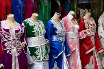 Mannequins with typical moroccan dresses