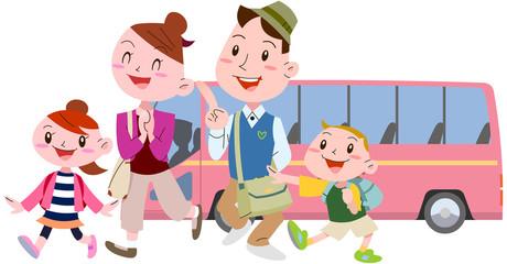 家族でバス旅行