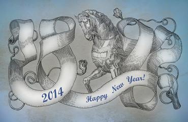 Symbol of 2014. Horse.