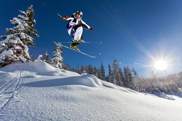 Fototapete - salto in neve fresca