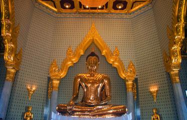 Papiers peints Edifice religieux Pure gold Buddha in Wat Traimit Temple, Bangkok, Thailand
