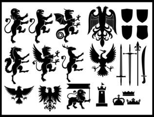 heraldry vector set
