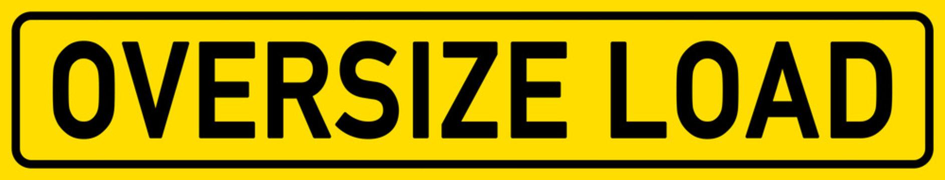 English Signs E297 - Oversize Load