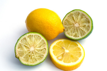 sliced lemons and limes