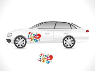 abstract sedan car sticker