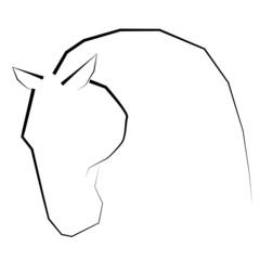 Koń logo symbol wektor