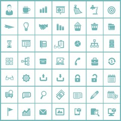 Office icons,Blue version,vector