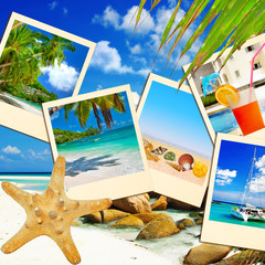 tropical holidays - collage with frames