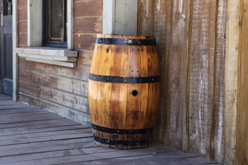 Old oak barrel