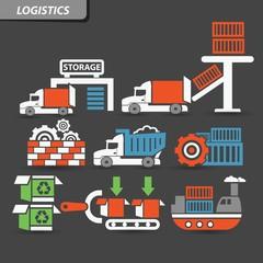 Transport and logistics symbol