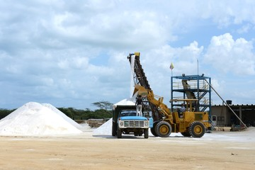 Salt production on Guajira peninsula