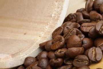 black beans roasted coffee
