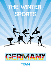 The winter sports Germany team