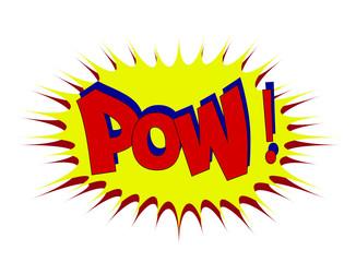 POW Comic book explosion  comic sound effect