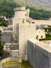 part of the fortress wall and watchtower of the old town
