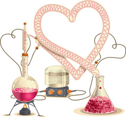 Love Chemistry - Vector Illustration