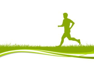 Jogger Silhouette grün