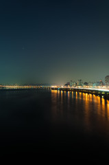Lights of Seoul along the Han River.