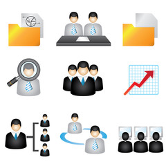 business icons set, human resource icons set, business icons set