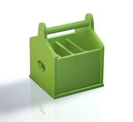 Werkzeugkiste Holz - Grün