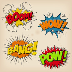 Grunge Comic Cartoon Sound Effects
