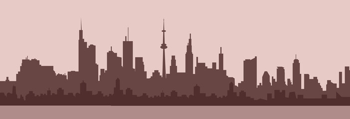 City skyline at Morning - Vector