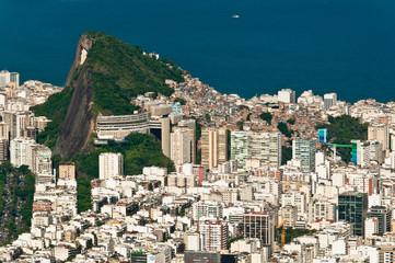 Rio de Janeiro Copacabana and Ipanema Aerial View
