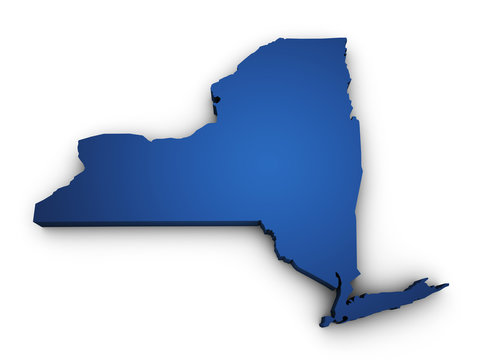 Map Of New York State 3d Shape