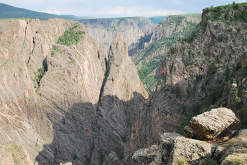Wall Mural - Black canyon of the Gunnison National Park, South Rim, CO, USA