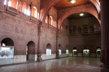 Interior Hall of Junagarh fort, Bikaner, India
