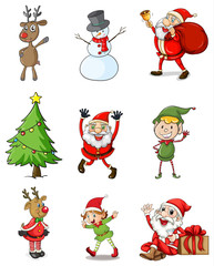 Nine christmas designs