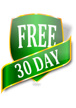 A label with the word free 30 days - vector