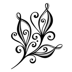 Beautiful Decorative Bud (Vector), Patterned design