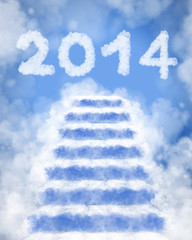 2014 happy new year concept