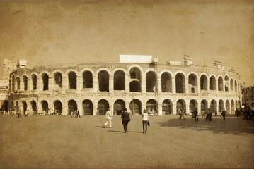 vintage image of old buildings