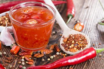 Portion of fresh Chili Sauce