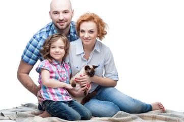 happy casual family